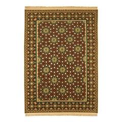 Vintage Part Silk Geometric Esfahan Serafian Persian Rug