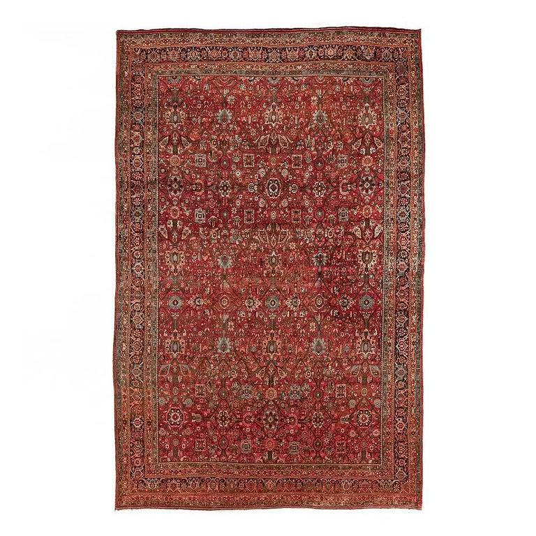Large Antique 1910 Bidjar Persian Rug
