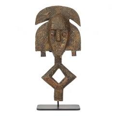 African Gabon Mounted Kota Tribe Reliquary Figure, 20th Century