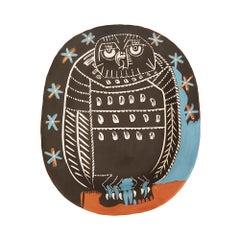 Pablo Picasso Dish, Hibou Mat/Matte Owl, 1955 'A.R.284'