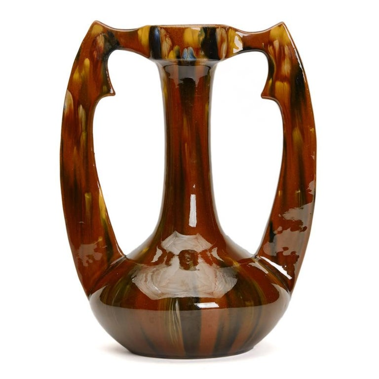 Art Nouveau French Clement Massier Vase, 19th Century In Good Condition For Sale In Bishop's Stortford, Hertfordshire