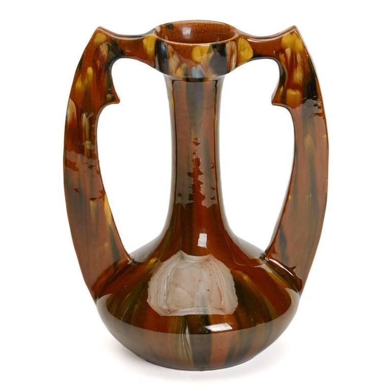 Art Nouveau French Clement Massier Vase, 19th Century For Sale 1