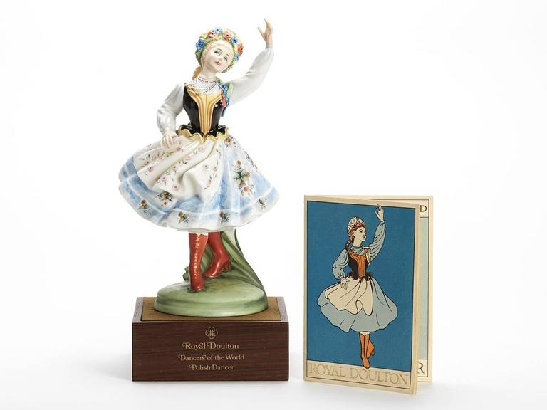 Originating from a private collection a vintage limited edition Royal Doulton Dancers of the World series porcelain figurine titled Polish Dancer and numbered HN2836. Designed by Peggy Davies the figure is one of 12 figures produced by Royal Doulton