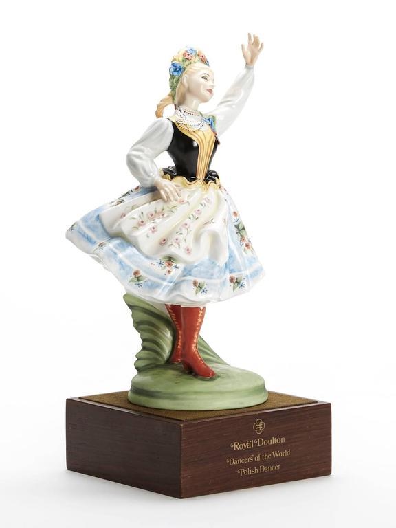 English Royal Doulton Polish Dancer Figurine, 1980 For Sale