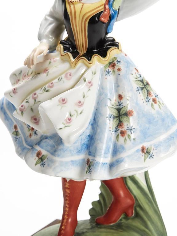Porcelain Royal Doulton Polish Dancer Figurine, 1980 For Sale