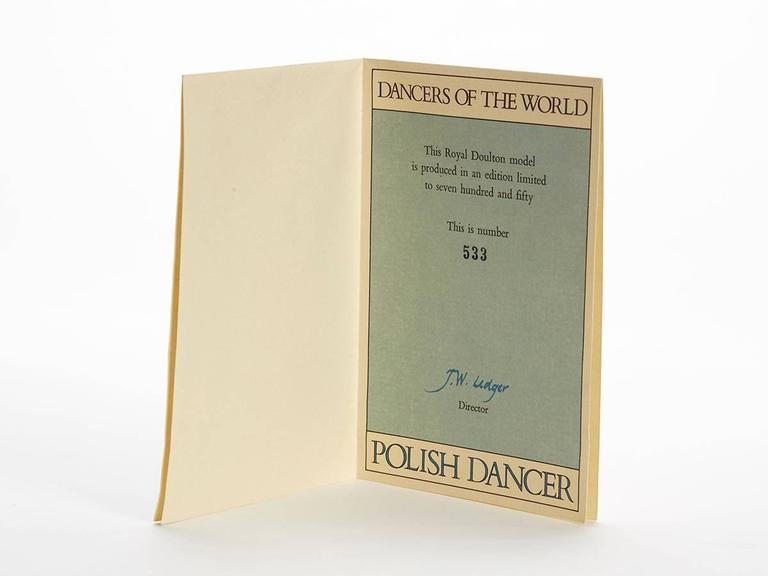 Royal Doulton Polish Dancer Figurine, 1980 For Sale 3