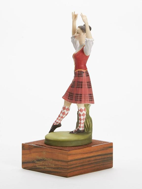 Hand-Painted Royal Doulton Scottish Dancer Figurine, 1978 For Sale