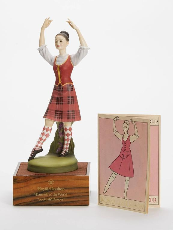 Originating from a private collection a vintage limited edition Royal Doulton Dancers of the World series porcelain figurine titled Kurdish Dancer and numbered HN2436. Designed by Peggy Davies the figure is one of 12 figures produced by Royal