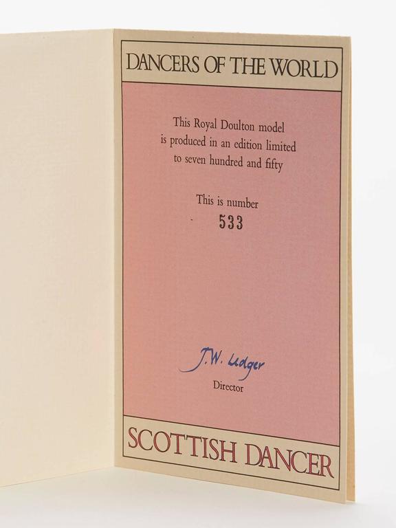 Royal Doulton Scottish Dancer Figurine, 1978 For Sale 2