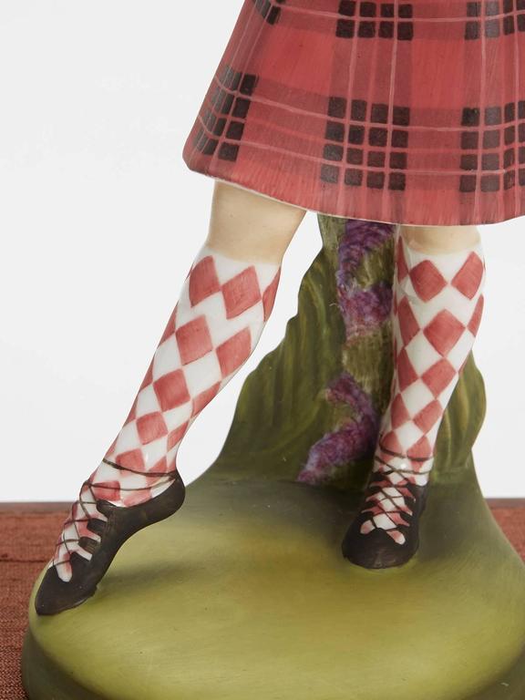 Porcelain Royal Doulton Scottish Dancer Figurine, 1978 For Sale