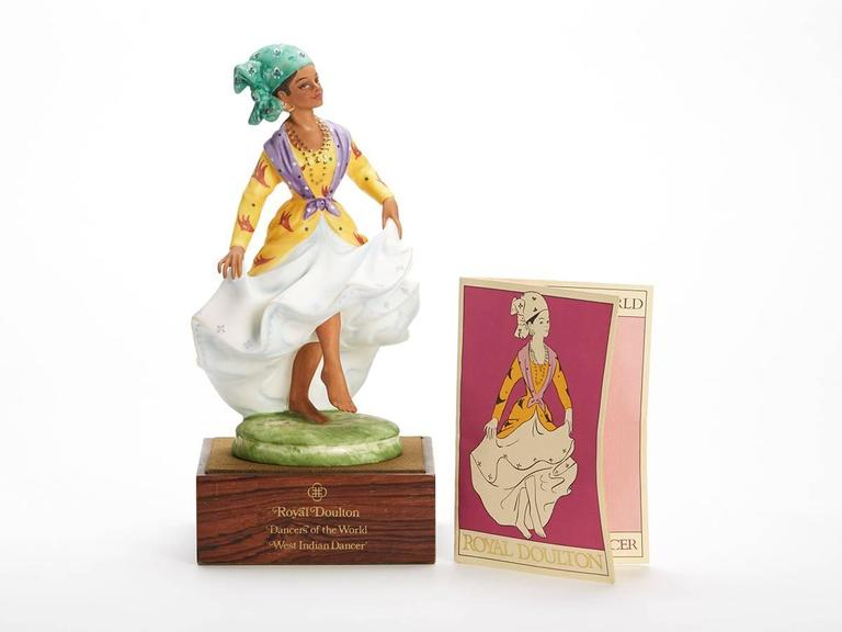 Originating from a private collection a vintage limited edition Royal Doulton Dancers of the World series porcelain figurine titled West Indian Dancer and numbered HN2384. Designed by Peggy Davies the figure is one of 12 figures produced by Royal