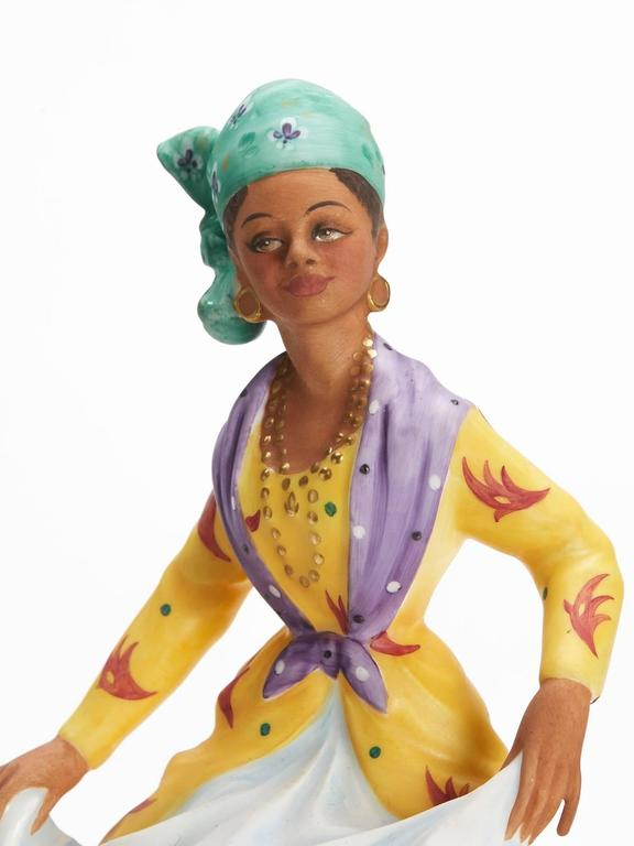 Late 20th Century Royal Doulton West Indian Dancer Figurine, 1981 For Sale
