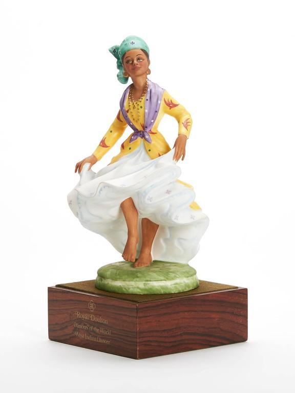 English Royal Doulton West Indian Dancer Figurine, 1981 For Sale