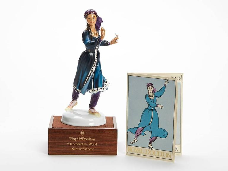 Originating from a private collection a vintage limited edition Royal Doulton Dancers of the World series porcelain figurine titled Kurdish Dancer and numbered HN2867. Designed by Peggy Davies the figure is one of 12 figures produced by Royal