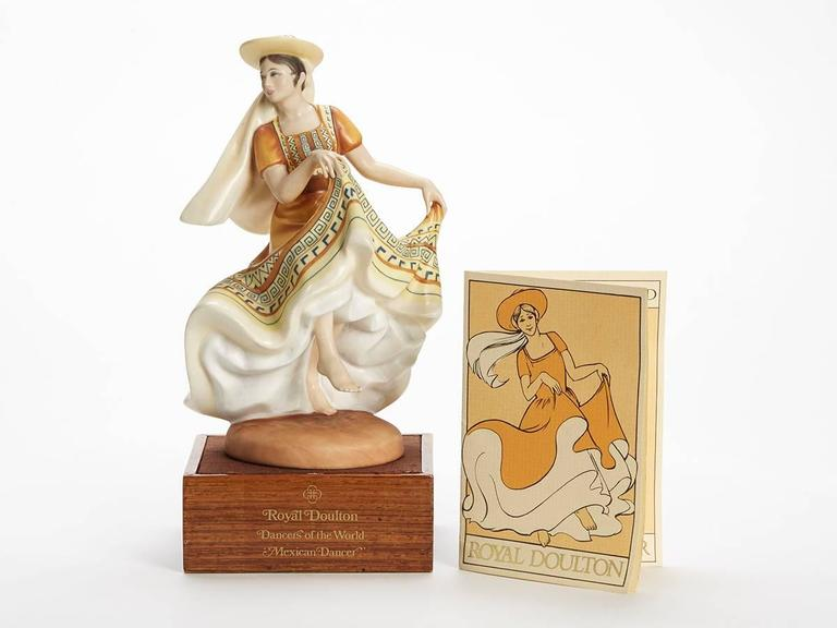 Originating from a private collection a vintage limited edition Royal Doulton Dancers of the World series porcelain figurine titled Mexican Dancer and numbered HN2866. Designed by Peggy Davies the figure is one of 12 figures produced by Royal