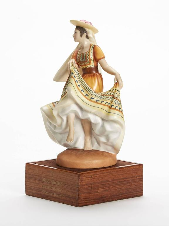 Hand-Painted Royal Doulton Mexican Dancer Figurine, 1978 For Sale
