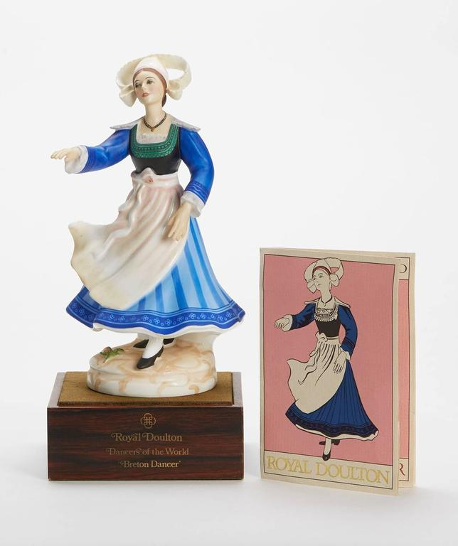 Originating from a private collection a vintage limited edition Royal Doulton Dancers of the World series porcelain figurine titled Kurdish Dancer and numbered HN2383. Designed by Peggy Davies the figure is one of 12 figures produced by Royal