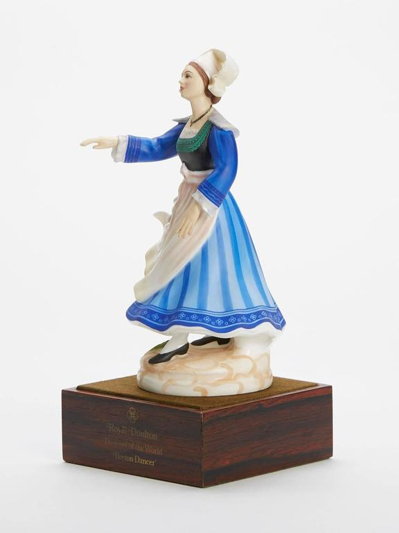 Hand-Painted Royal Doulton Breton Dancer Figurine 1981 For Sale