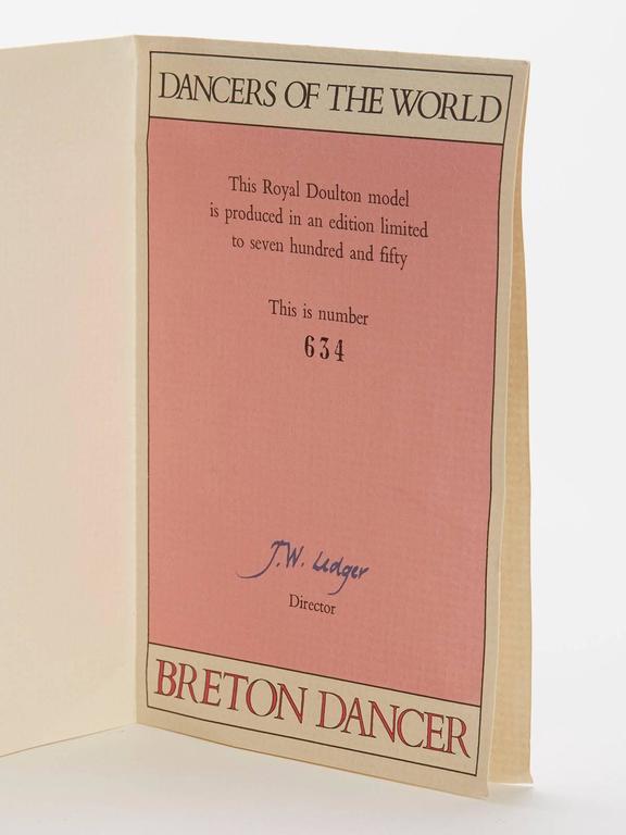Royal Doulton Breton Dancer Figurine 1981 For Sale 2