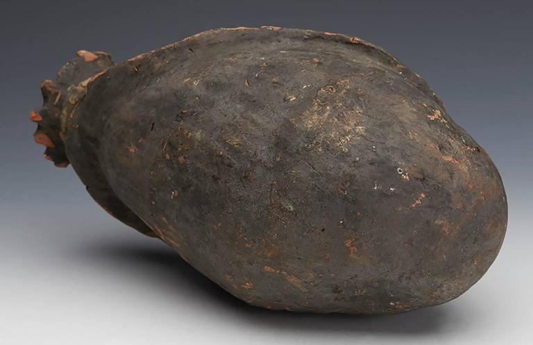 Painted Kwoma Ceremonial Pottery Head Jar Papau New Guinea, 19th Century For Sale