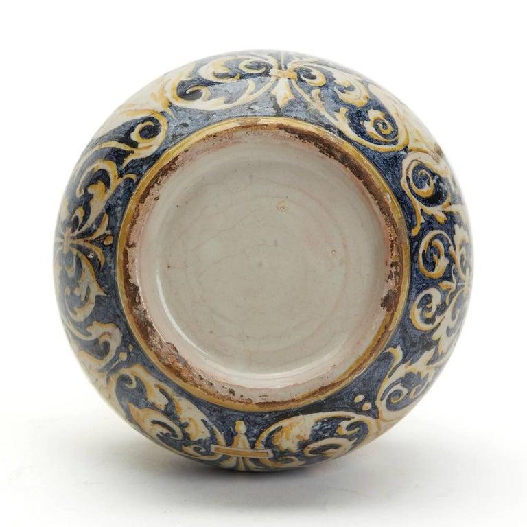Antique Italian Maiolica Classical Painted Vase 19th Century For Sale 1