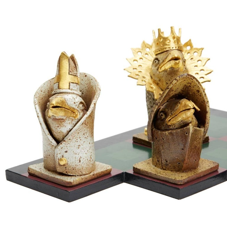 Kenneth Breeze Studio Pottery Chess Sculpture Installation For Sale 1