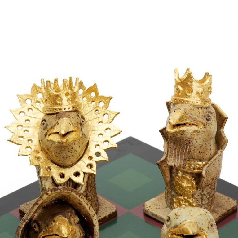 Kenneth Breeze Studio Pottery Chess Sculpture Installation For Sale 3