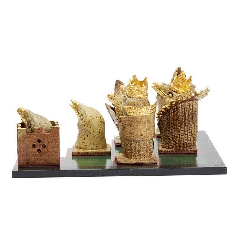 Kenneth Breeze Studio Pottery Chess Sculpture Installation In Good Condition For Sale In Bishop's Stortford, Hertfordshire