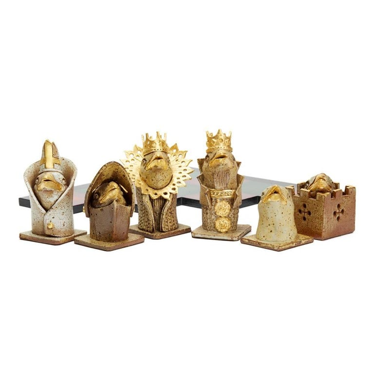 Contemporary Kenneth Breeze Studio Pottery Chess Sculpture Installation For Sale