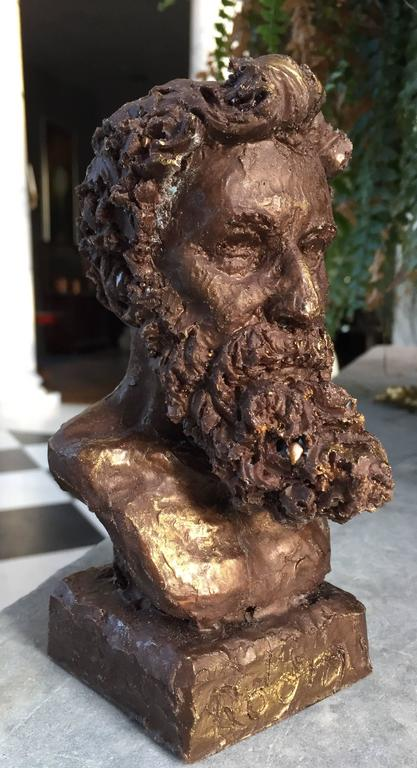 Bronze bust of Rodin by Sculptor Daniel Altshuler, 2016. This is sculptor Daniel Altshuler's most recent creation. It is the bust of French Sculptor August Rodin, who's work he greatly admires. Daniel Altshuler went to the School of The Museum of