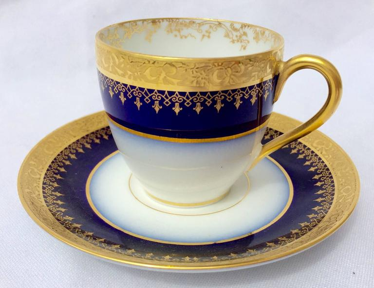 limoges porcelain demi tasse espresso cups at 1stdibs. Black Bedroom Furniture Sets. Home Design Ideas