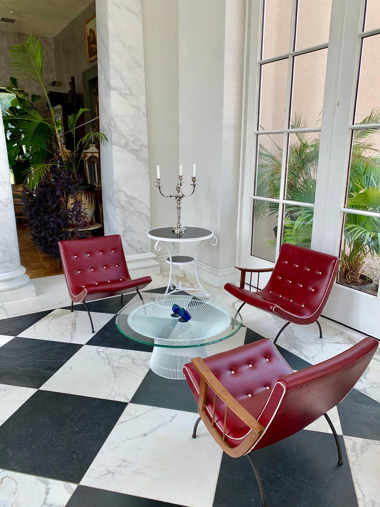 Wrought Iron Scoop Lounge Chairs For Sale