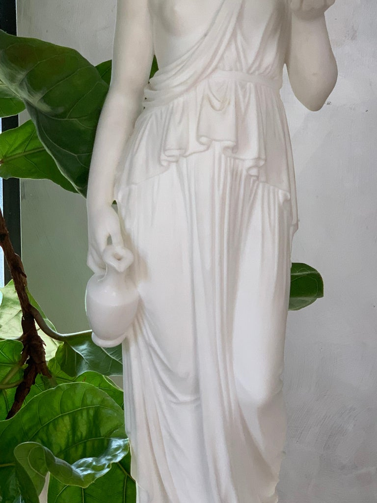 Italian Marble Statue of Hebe For Sale