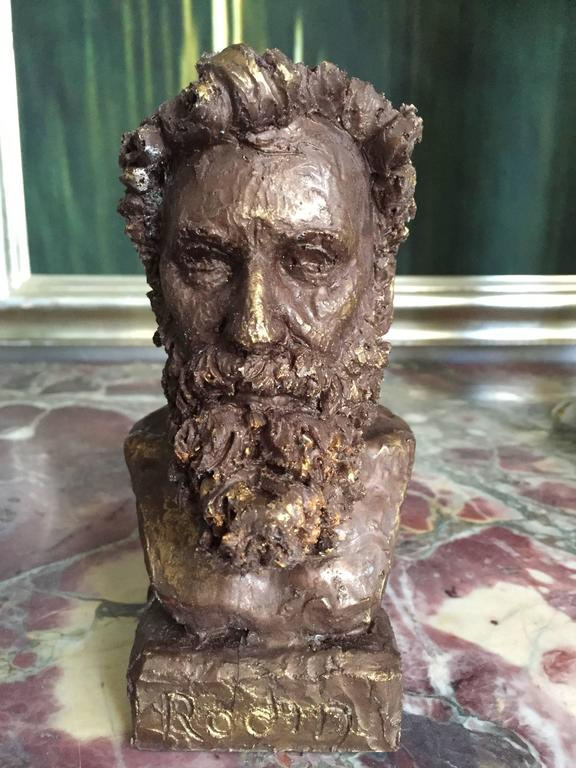 Cast Bronze Bust of Rodin by Sculptor Daniel Altshuler, 2016 For Sale