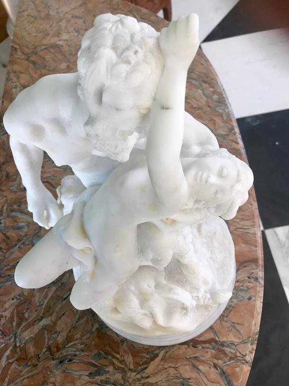 Marble Sculpture of Satyr,18th Century For Sale 1