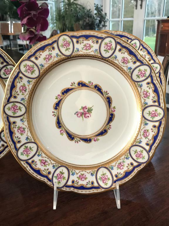 This gorgeous Set of 12 Porcelain Dinner Plates was custom created by Wedgwood in 1900 to & Wedgwood Dinner Plates For Sale at 1stdibs