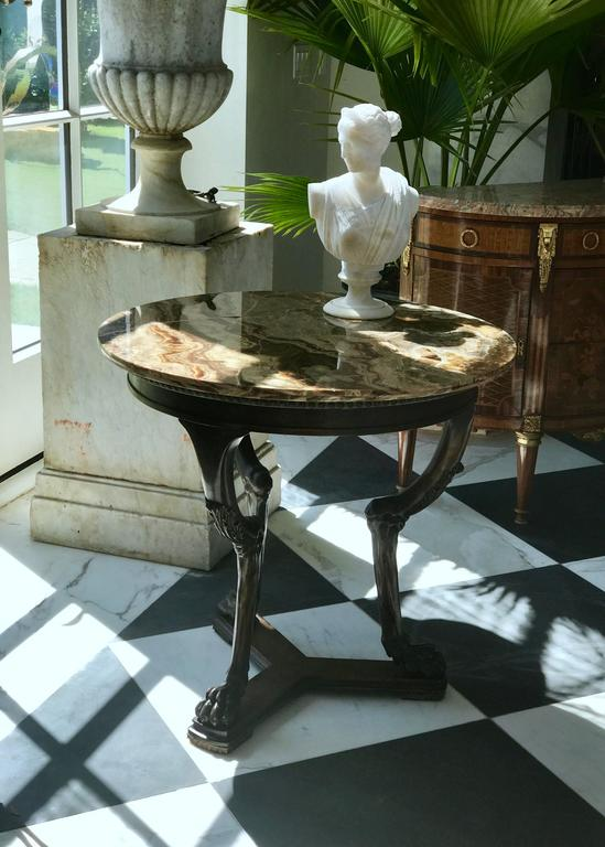 Italian  Neoclasical Side Table For Sale