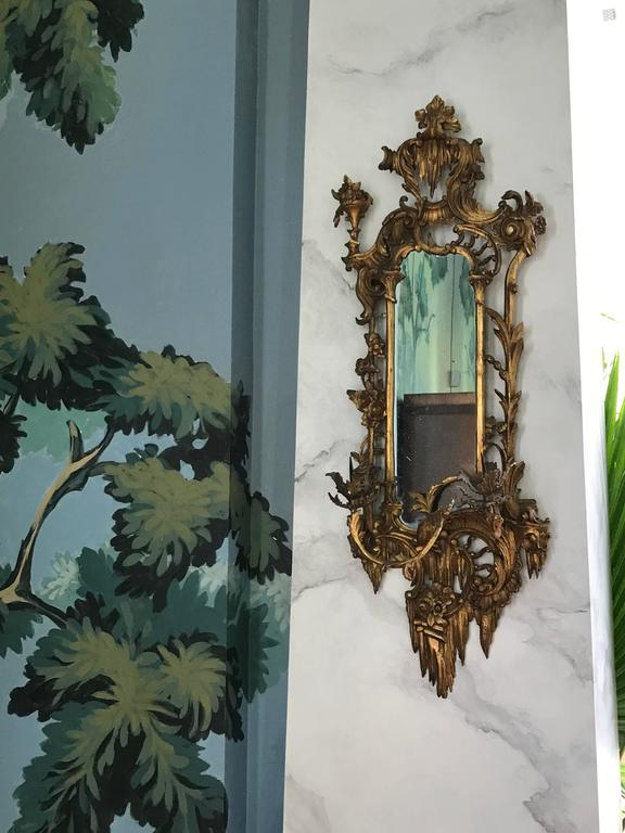 Mid-19th Century Giltwood Mirrored Wall Sconces For Sale