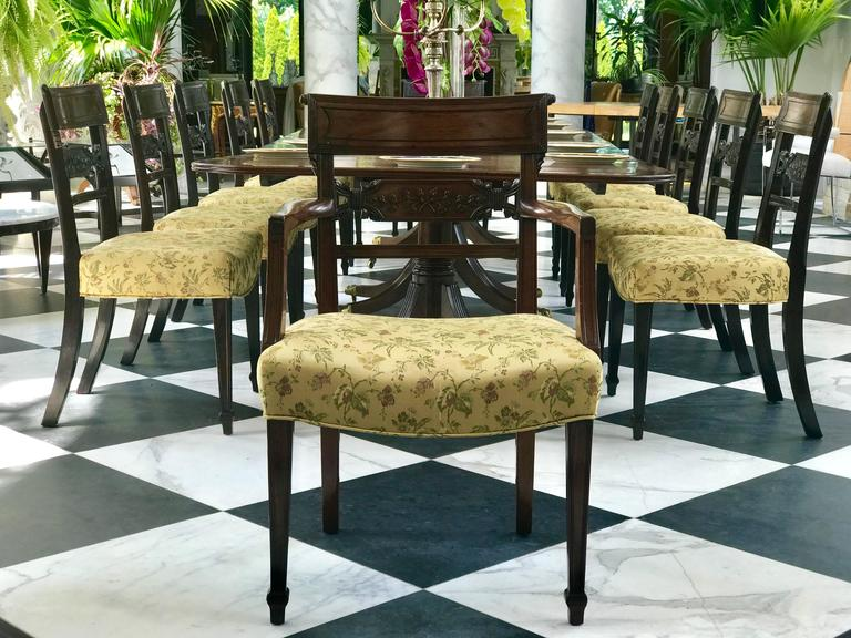 English Regency Mahogany Dining Chairs For Sale