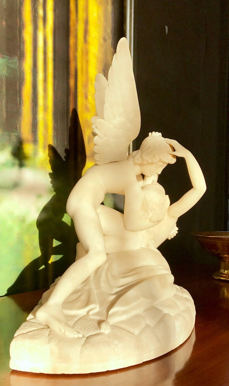 Neoclassical Sculpture of Cupid and Psyche For Sale