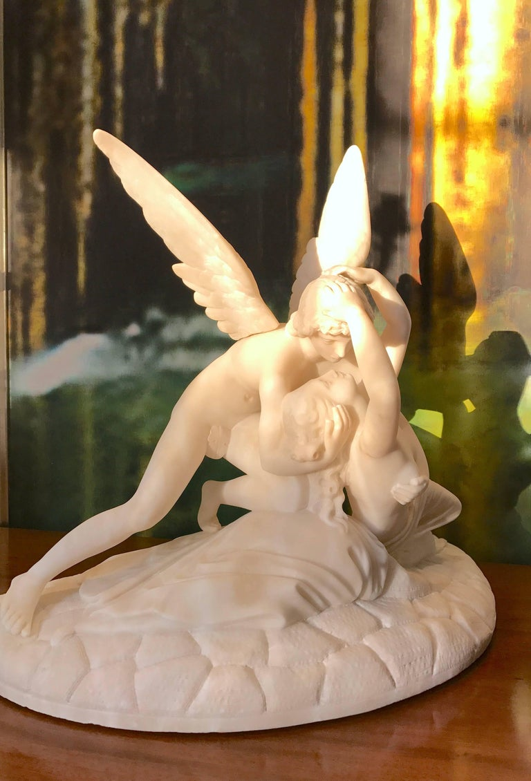 Italian Sculpture of Cupid and Psyche For Sale