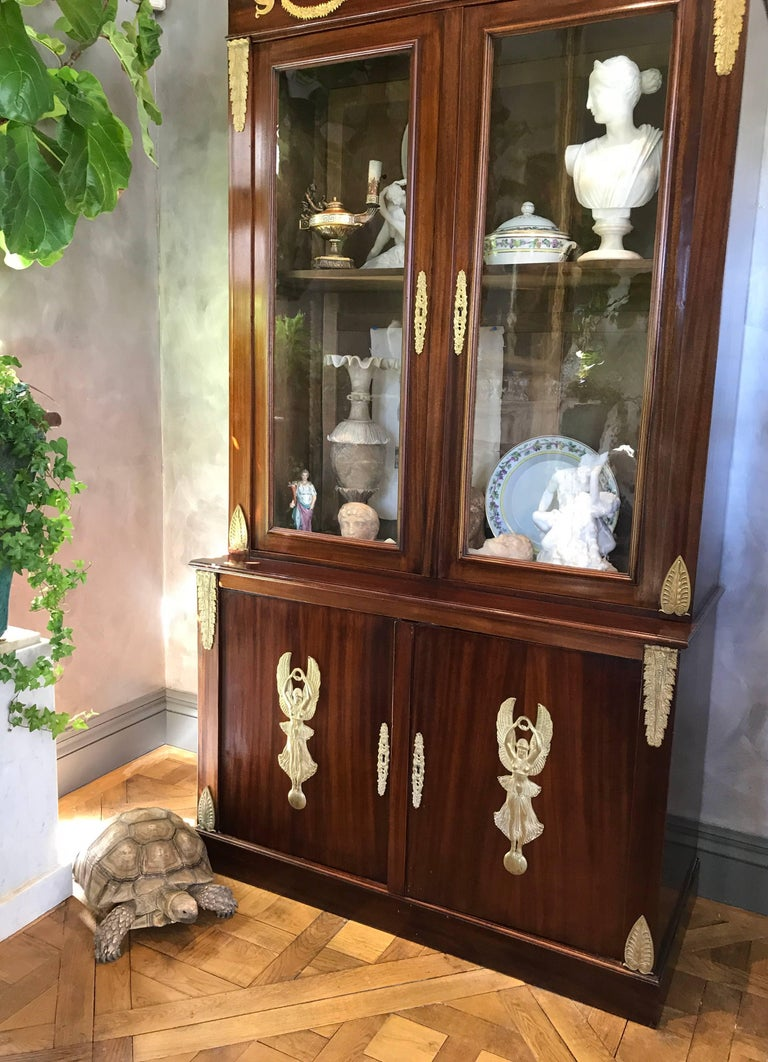 French Pair of Empire Bookcases For Sale