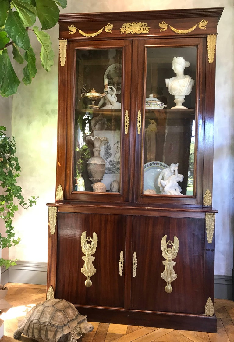 Pair of Empire Bookcases In Good Condition For Sale In Manchester, MA