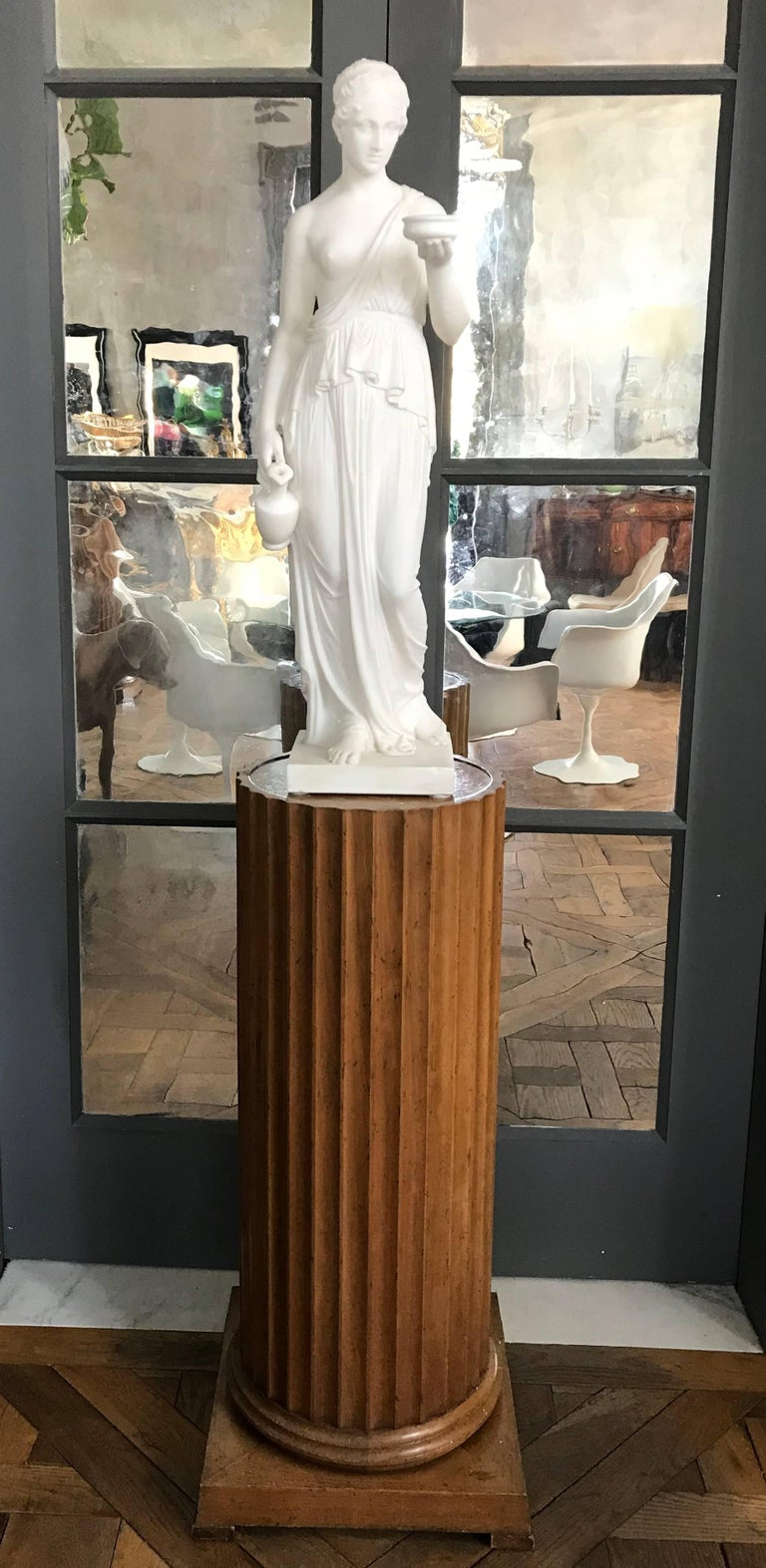 Mid-19th Century Marble Statue of Hebe For Sale