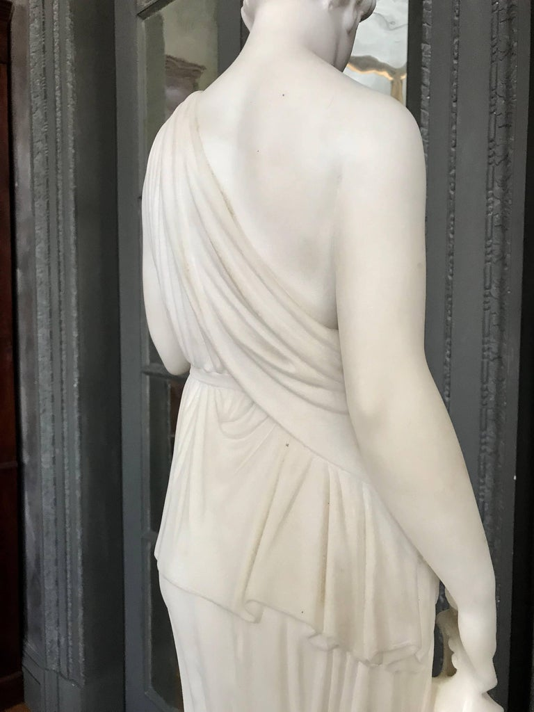 Marble Statue of Hebe For Sale 1