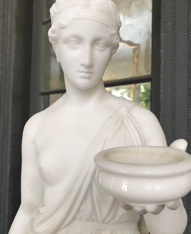 Marble Statue of Hebe For Sale 2
