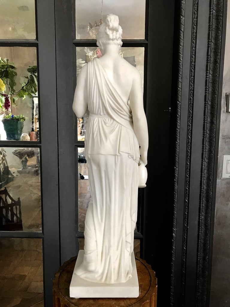 Marble Statue of Hebe For Sale 4