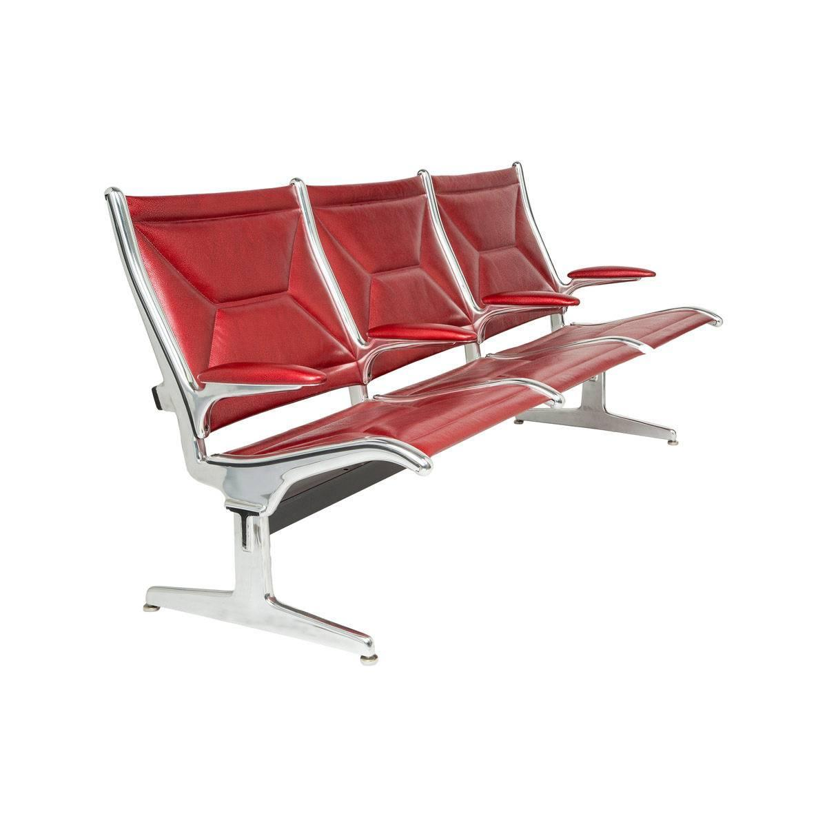 Eames For Herman Miller Tandem Sling Bench In Red Edelman