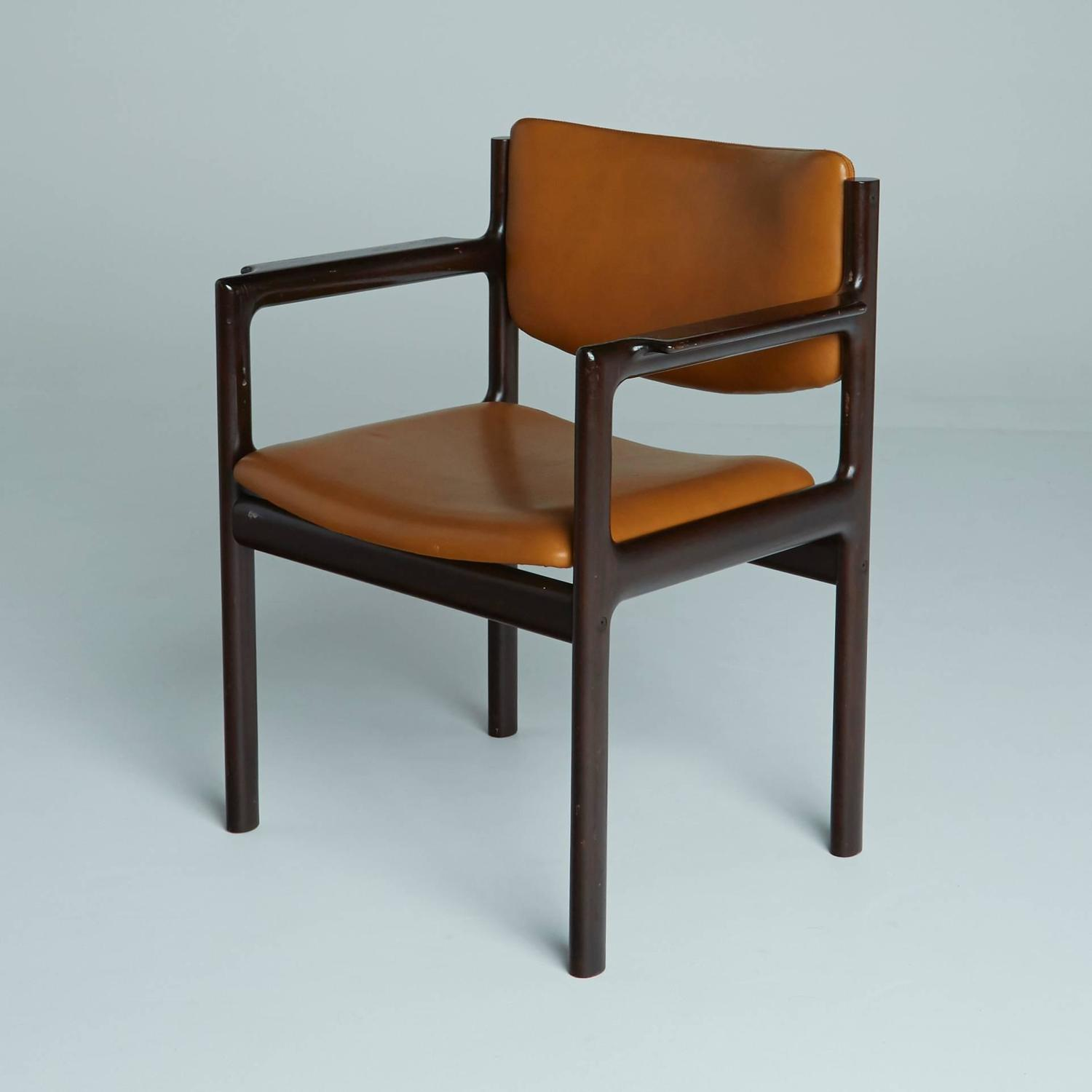 danish mid century modern rosewood armchairs for sale at