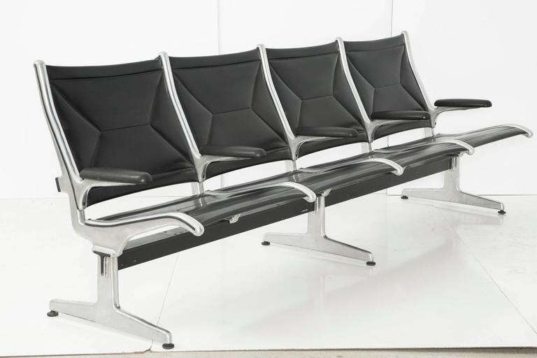American Tandem Sling by Ray and Charles Eames for Herman Miller, Four-Seat For Sale